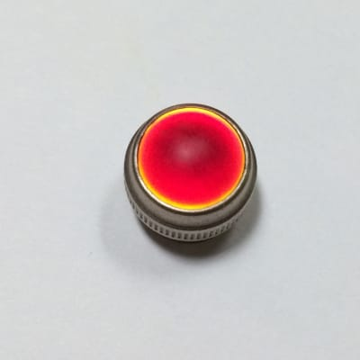 Vintage Smooth Glass Amplifier Jewel Lens, RED, Fits Fender and Other Amplifiers