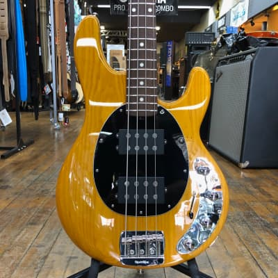 Ernie Ball Music Man StingRay Special HH Bass Classic Natural w/Rosewood Fingerboard, Hard Case