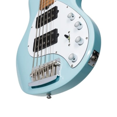 Sterling by Music Man StingRay Daphne Blue/Roasted Maple Bass Guitar for sale