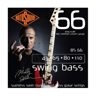 Rotosound BS66 Billy Sheehan bass guitar string set 43 - 110 for sale