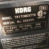Korg Triton Extreme 76 Aged Black Satin