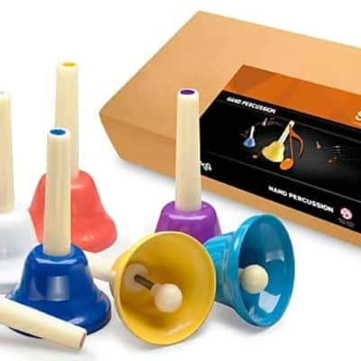 Stagg HBSET 8-Note Handbell Set Color-Coded