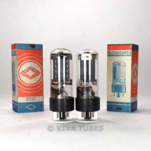 NOS NIB Ip Matched Pair Soviet USSR 6L6GC 6P3S Vacuum Tubes Russia (Ships USA)