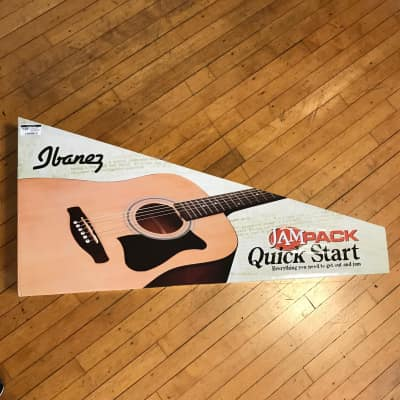 Ibanez JamPack IJV50 Quickstart Dreadnought Acoustic Guitar Pack Natural for sale