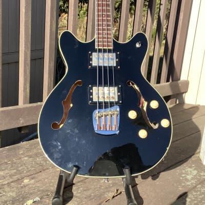 DeArmond Starfire 2002 Black Gloss Bass Guitar for sale