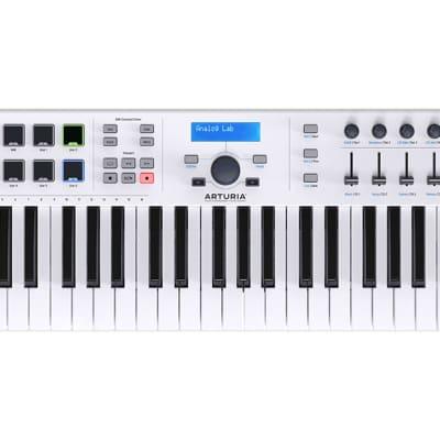 Arturia KeyLab Essential 61 (White) 61-key Keyboard USB MIDI Controller