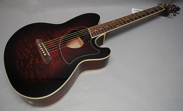 Ibanez Talman Tcm50 Acoustic Electric Guitar Vintage Brown Reverb