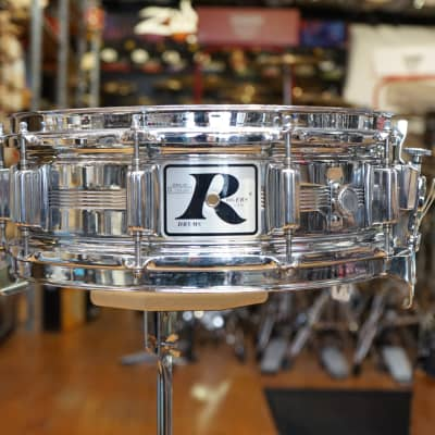 """Rogers """"Big R"""" Dyna-Sonic 5x14"""" Brass Snare Drum 1975  Chrome"""