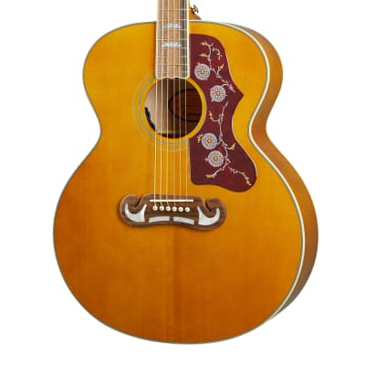Epiphone Masterbilt J-200 Acoustic-Electric Guitar, Aged Natural Antique Gloss