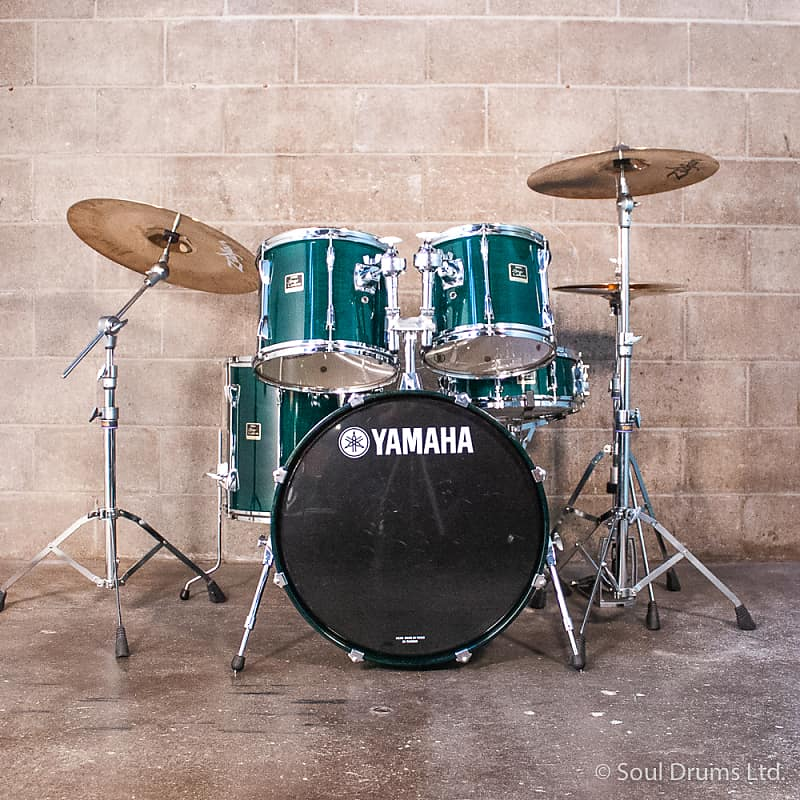 Yamaha Stage Custom Drum Set Green Lacquer Soul Drums Ltd Reverb