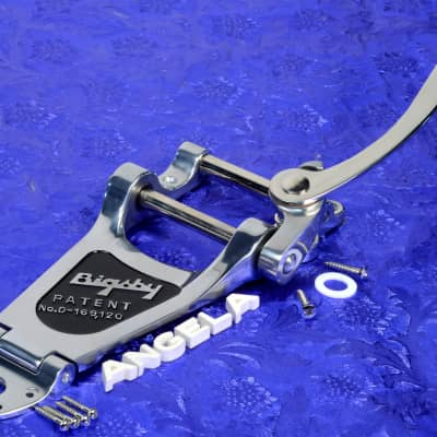 Genuine Bigsby B7 Chrome Vibrato Tailpiece Kit For Gibson Arch Top Guitars0868013005 image