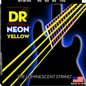 DR NYB-45 HiDef Coated Neon Medium Bass Strings 45-105