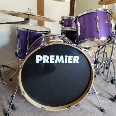 """Premier 22""""x16"""" Bass Drum Purple Lacquer - MINT"""