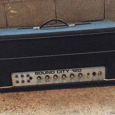 Sound City l/B 120 Mark IV, Head black for sale