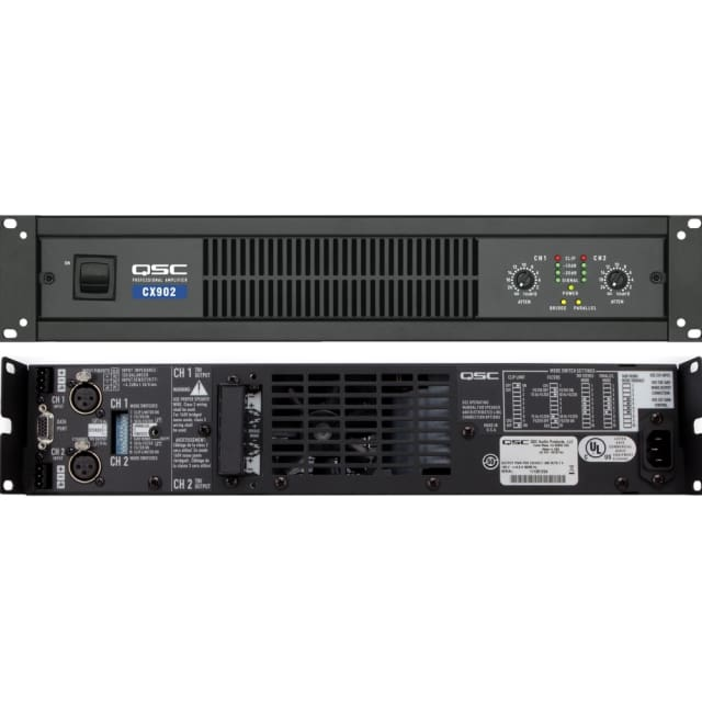 QSC CX902 3000W Bridged Live & Install Rackmount Amplifier image