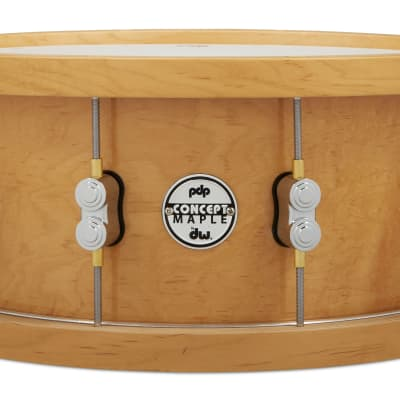 PDP 20-Ply Thick Wood Hoop Maple Snare, 6.5x14, Natural PDSN6514NAWH