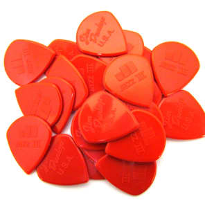 Dunlop Nylon Jazz III Guitar Picks - Red - 24 Pack