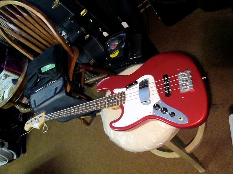 relic mix red jazz bass electric lefty guitar left handed reverb. Black Bedroom Furniture Sets. Home Design Ideas
