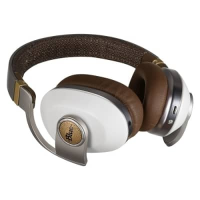 Blue Microphones Satellite White Premium Noise-Cancelling Wireless Headphones With Built-In Amp 7136