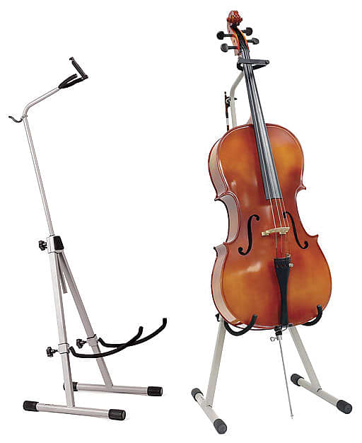 ingles cello and bass stand with bow holder reverb. Black Bedroom Furniture Sets. Home Design Ideas