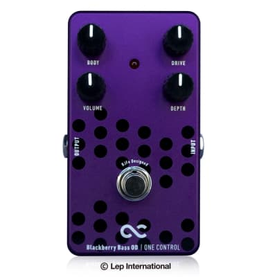 One Control BJFe Series Blackberry Bass Overdrive Pedal for sale