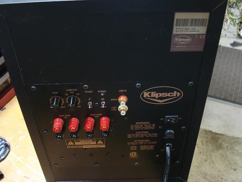 Klipsch RPW 10 Subwoofer 200 Watts RMS 10