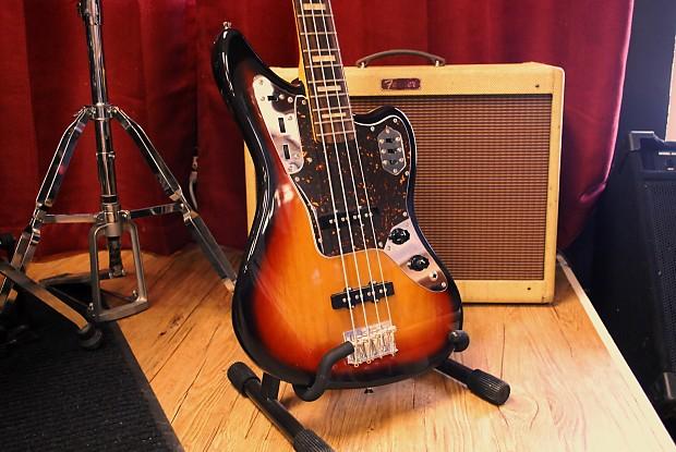 fender jaguar bass 2007 sunburst active pickups made in japan reverb. Black Bedroom Furniture Sets. Home Design Ideas
