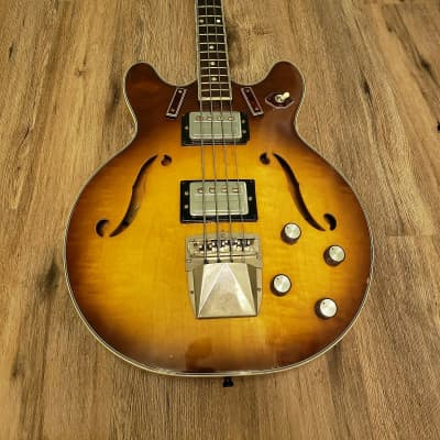 Vintage 1960s Harmony H-27 Bass w/ 70s Guild Pickups for sale