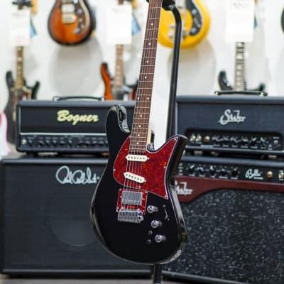 Fodera Emperor Standard Classic Guitar HSS-Black w/Tortoise PG, Indian Rosewood FB & Black Headstock for sale
