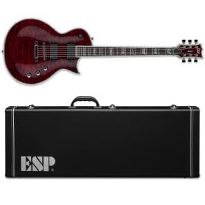 ESP LTD Deluxe EC-1000QM STBC See Thru Black Cherry BRAND NEW  EC-1000 QM W/ HARD CASE for sale