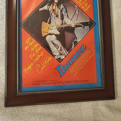 1976 Ibanez Guitars Promotional Ad Framed Cub Koda Brownsville Station Ibanez Destroyer Original