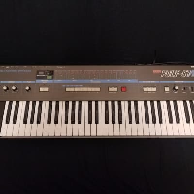 Korg Poly-61m Vintage Polyphonic Synthesizer w/ Tubbutec ModyPoly Upgrade, Replacement KLM Clone Motherboard, And Full LA Synth Co New Key Contact Replacement