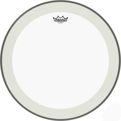 """20"""" Powerstroke 4 Clear Bass Drum Head with double layer and clear dot"""