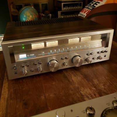 Sansui G-7500, Silver Face, Huge Knobs, Monster 90 Watts Per Channel, 1978, Walnut Veneer, Superb!