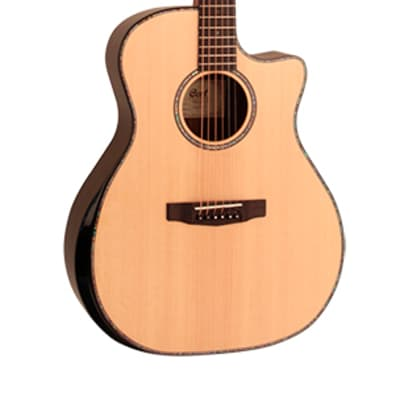 Grand Regal Series Acoustic guitar with preamp and pickup Cutaway  Cort GA-PF-Bevel-NAT