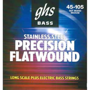 GHS Strings M3050 Flatwound Long Scale Medium Plus Bass Strings (45-105)