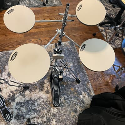 DW DWCPPADTS5 Go Anywhere 5pc Practice Pad Drum Set with Stand 2020 Chrome/Black/White