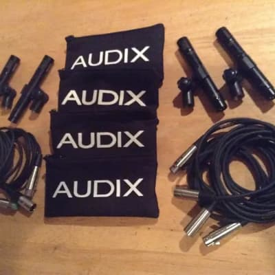 Audix 4 Piece Professional Grade Condenser Mic's Bundle Lot with Mic Cables & Bags