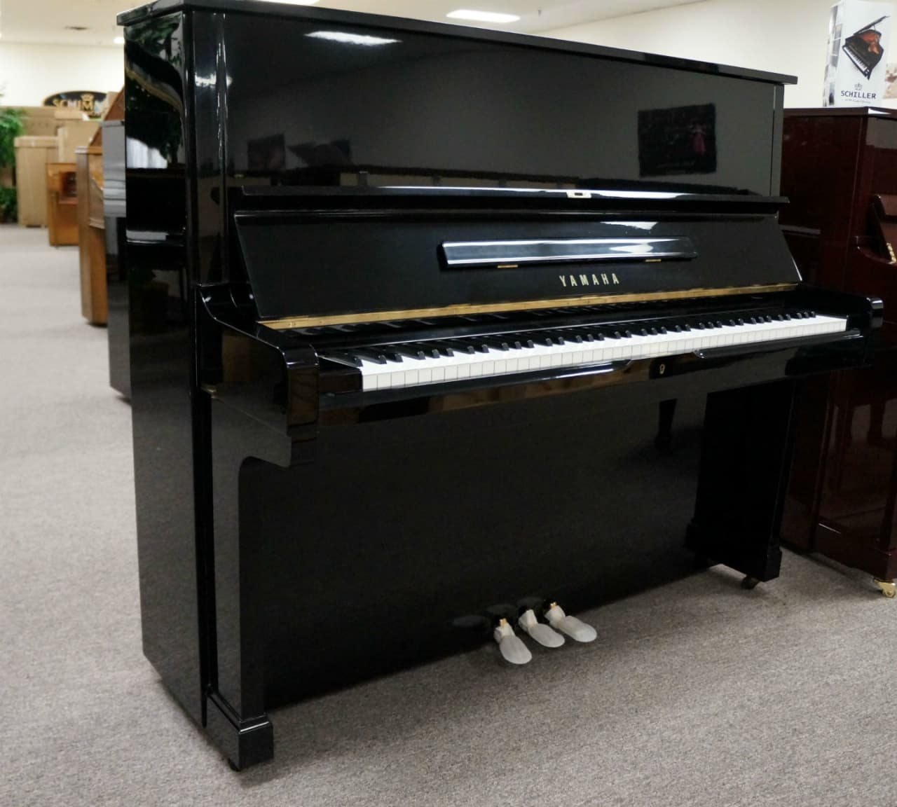 Yamaha u2 upright piano black polish reverb for Yamaha u2 piano