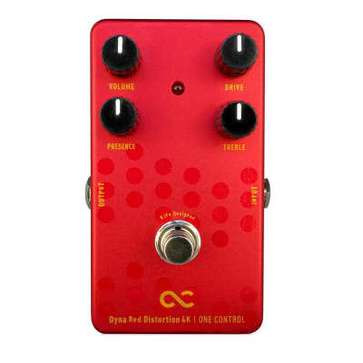 New One Control Dyna Red Distortion 4K Guitar Effects Pedal