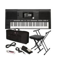Yamaha PSR-S970 Arranger Workstation Keyboard - Stage Essentials Bundle