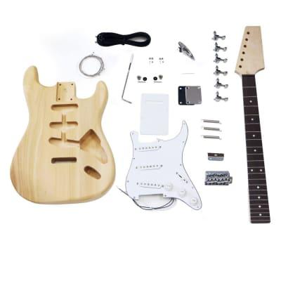 HOSCO Strat Stratocaster Style Electric Guitar Kit Maple & Rosewood Neck ER-KIT-ST for sale