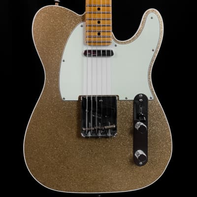 Fender Custom Shop 2019 Limited Edition Postmodern Tele Journeyman Relic MP Gold Sparkle Black Back w/case for sale