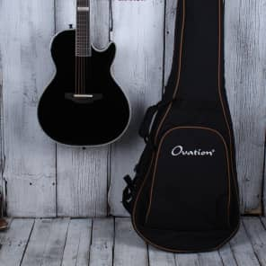 Ovation Dave Amato Signature Viper Acoustic Electric Guitar Black with Gig Bag for sale