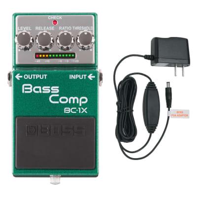BOSS BC-1X Bass Comp Compressor Bass Effects Pedal & PSA-120S2 Power Supply