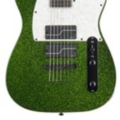 ESP LTD Stephen Carpenter SC607B Guitar with Case Green Sparkle for sale