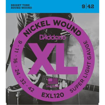 D'Addario EXL120 Nickel Wound Super Light 9-42