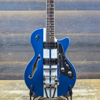 Duesenberg Starplayer TV Mike Campbell I Alliance Series Blue & White Electric Guitar for sale