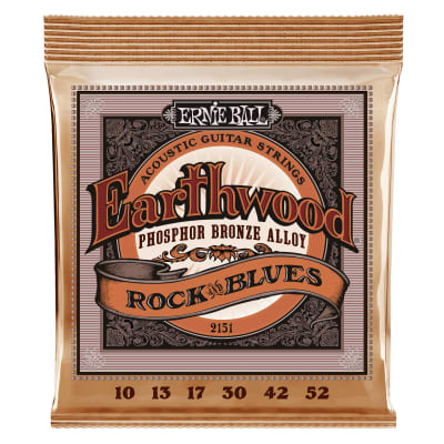 Ernie Ball Earthwood Rock and Blues w/Plain G Phosphor Bronze Acoustic Guitar Strings - 10-52 Gauge
