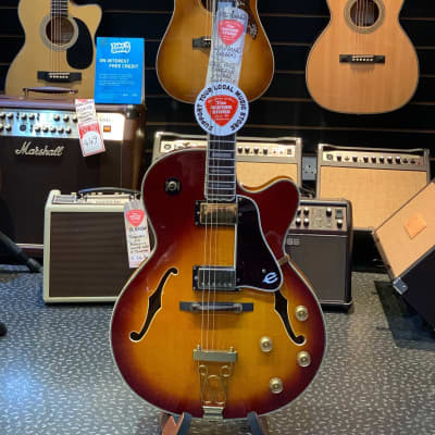 Epiphone Joe Pass Emperor Made in Korea Vintage Sunburst Pre-owned with Hard Case for sale